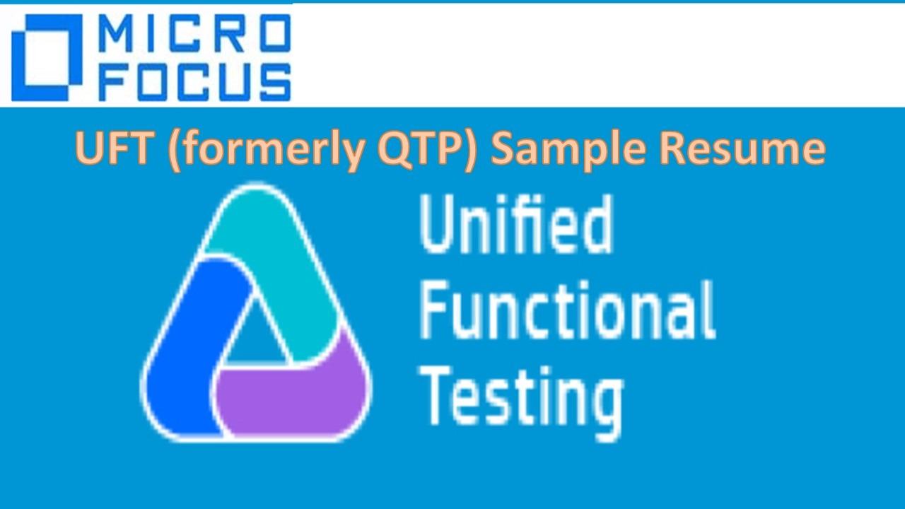 Uft Sample Resume Software Testing