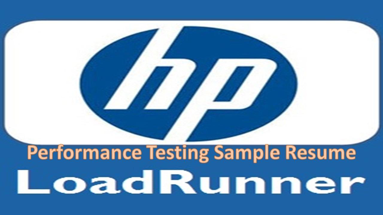 loadrunner resume software testing