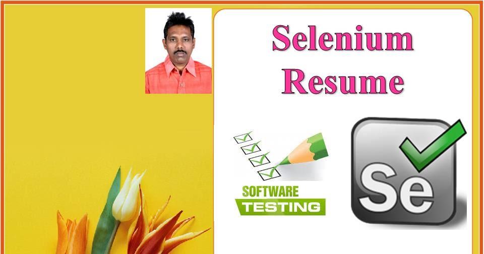 Selenium Tester Resume Software Testing