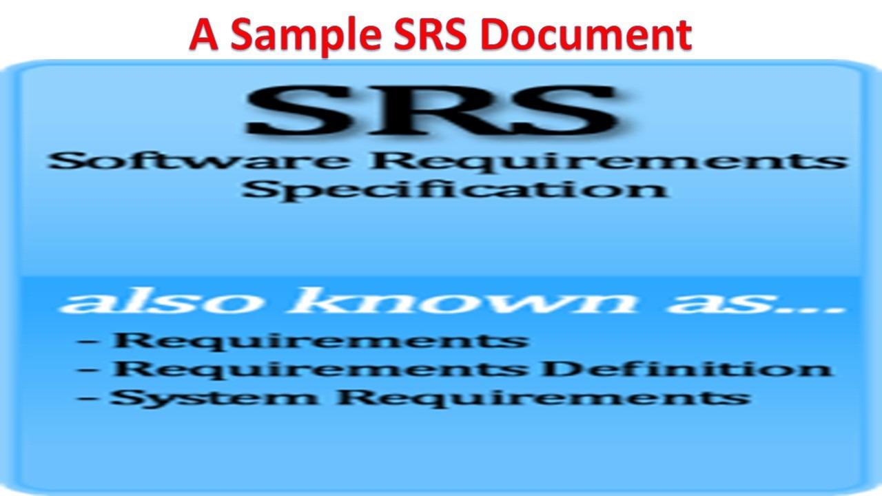 Sample Srs Document from www.gcreddy.com