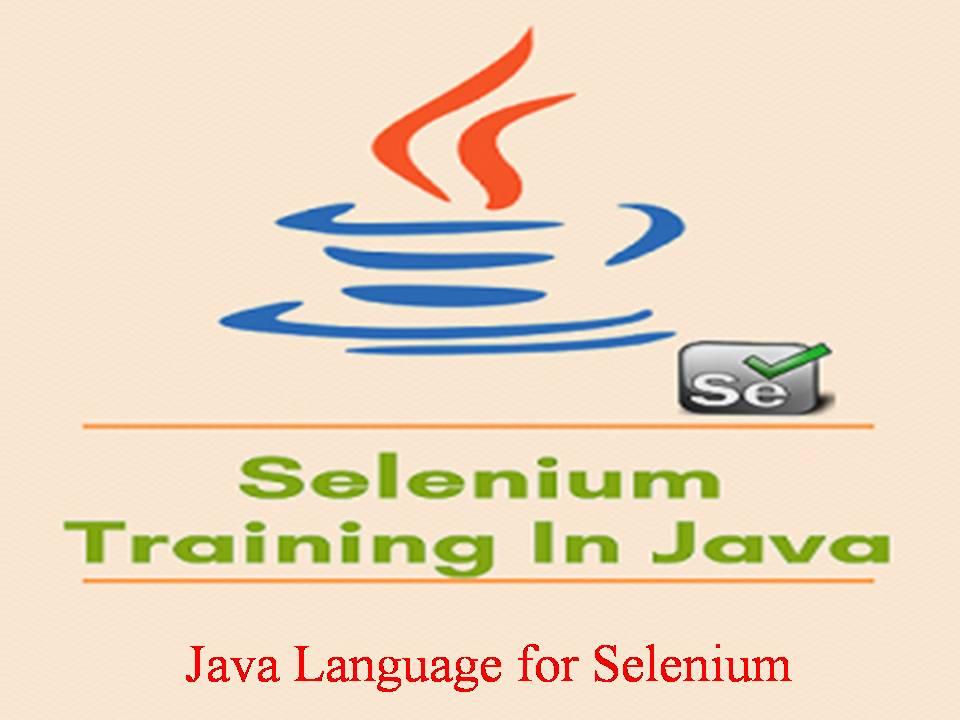 Java Language for Selenium