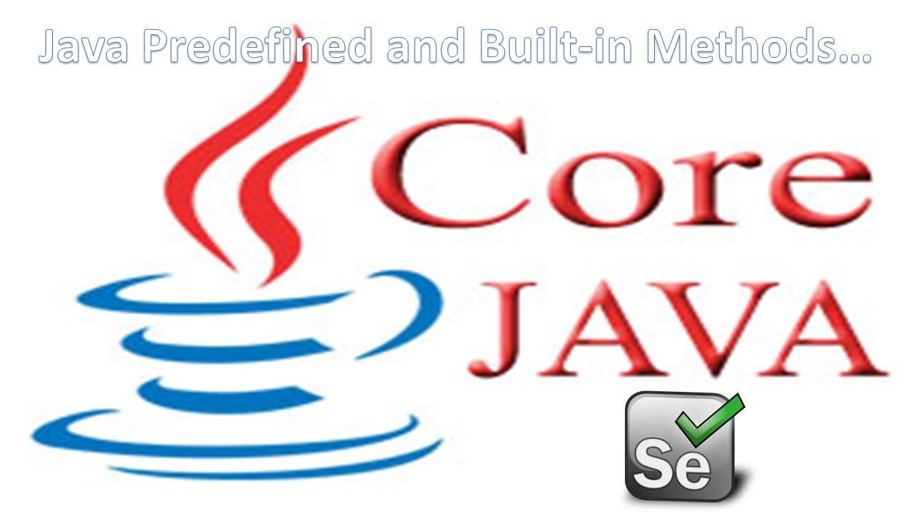 Java Built-in Methods
