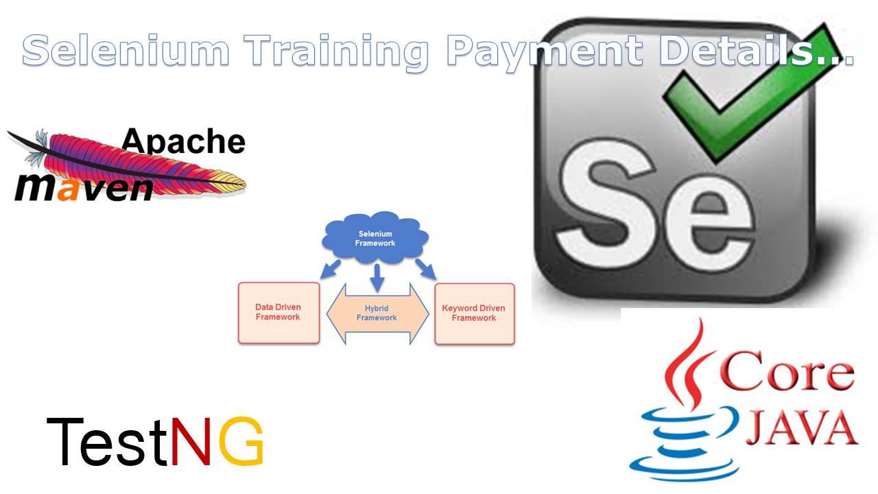 Selenium Training Payment Details