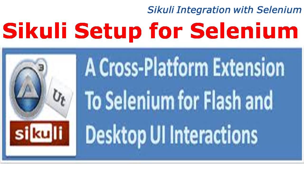 Sikuli Integration with Selenium