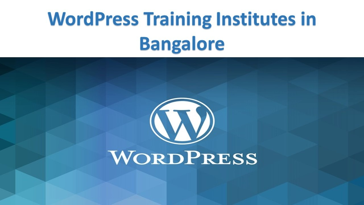 WordPress Training Institutes in Bangalore