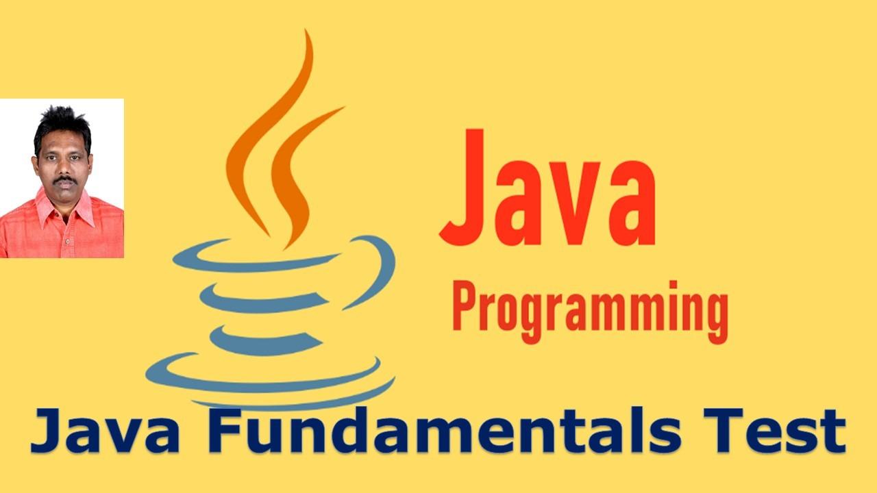 Java Fundamentals Online Test