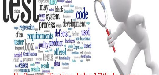 Software Testing Jobs 17th January