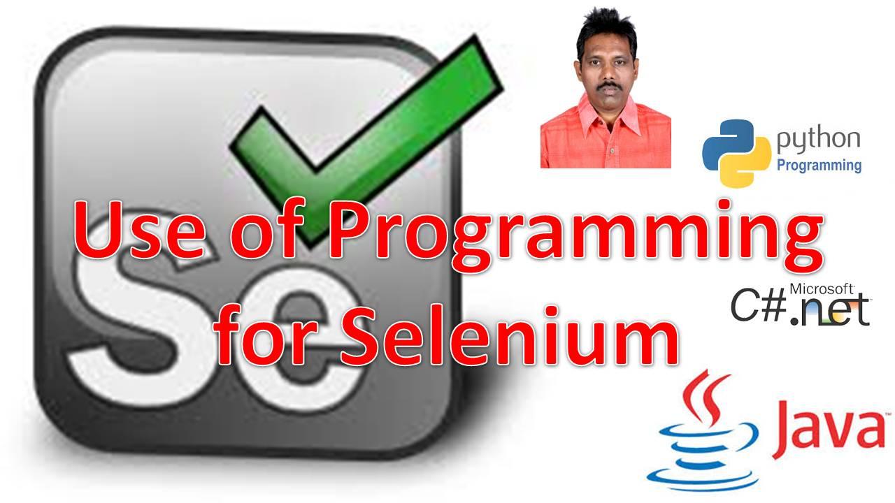 Programming for Selenium
